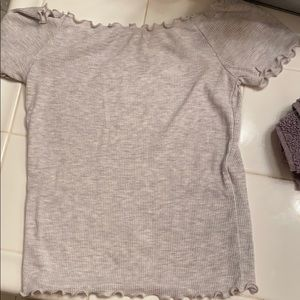 Grey off the shoulder top from brandy Melville